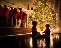 Christmas Eve by Mike DeMicco - Public Holidays Christmas ( xmas christmas children kids siblings glow cute child love playing stockings sweet tree happy new years eve fireplace light new years ) Sibling Christmas Pictures, Xmas Photos, Family Christmas Pictures, Holiday Pictures, Christmas Photo Cards, Xmas Family Photo Ideas, Christmas Photoshoot Ideas, Christmas Eve Images, Christmas Trends