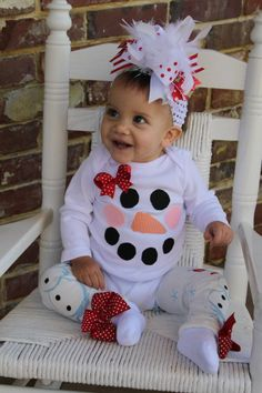 Over The Top Boutique Outfit SET -- Mrs. Frosty the Snowman