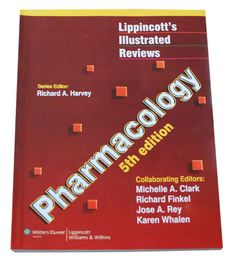 A Harvey 5th edition Lippincott's Illustrated Reviews: Pharmacology, Fifth Edition enables rapid review and assimilation of complex information and focuses on the essentials of medical pharmacology. Clear, sequential pictures present mechanisms of action and actually show, rather than tell, students how drugs work. student-oriented series. Richard Finkel Jose A. Rey Karen Whale