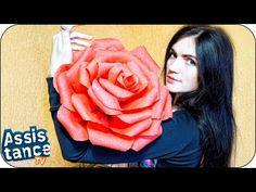 Роза из бумаги Своими руками / Paper Rose Tutorial / ✿ NataliDoma DIY Crafts Цветы - YouTube