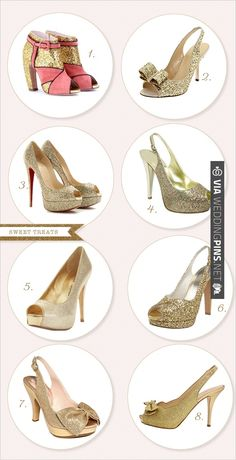 gold shoes | CHECK OUT MORE IDEAS AT WEDDINGPINS.NET | #weddingshoes