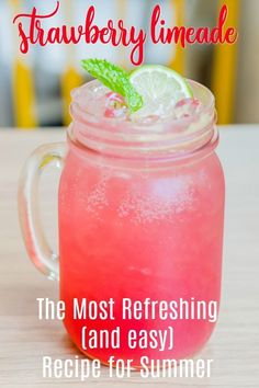 This Sonic strawberry limeade copycat recipe will knock your strawberry socks off! Let's get started making this drool-worthy, thirst-quenching strawberry limeade. Summer Drink Recipes, Summer Drinks, Fun Drinks, Healthy Drinks, Food And Drinks, Sonic Drinks, Beach Drinks, Liquor Drinks, Vodka Drinks