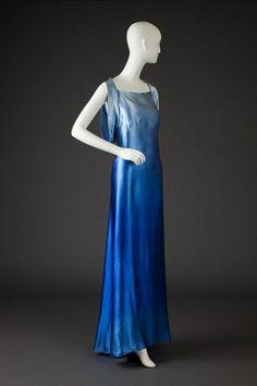 ~Bias cut gown, Rose Amado, c. 1935,  Goldstein Museum of Design~