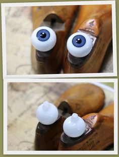 1 Antique Pair of  Large Glass Eyes - Choose of Blue, Brown, Green or Hazel by CaityAshBadashery on Etsy