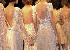 Rose Gold Wedding Gowns.  Design Unknown; Source: Elle Magazine