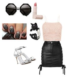 Untitled #7 by savvinabitz on Polyvore featuring polyvore fashion style Versus Lipstick Queen clothing