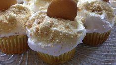 banana pudding cupcakes recipe Add banana yogurt to cool whip frosting.