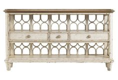 Antilles Console Table, Ivory