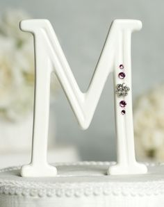 Crystal Florette Accented Porcelain Monogram Cake Topper with Custom Colors Elegant Wedding, Perfect Wedding, Our Wedding, Wedding Ideas, Dream Wedding, Wedding Inspiration, Heart Wedding Cakes, Wedding Cake Prices, Monogram Cake Toppers