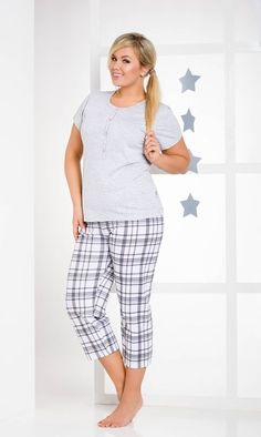 e9a67974ef Pyjamas for women Taro Teresa 2101 N is made of cotton. Pajamas with short  sleeves.