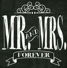 Just Mr and Mrs (no forever) and the periods are too tall?