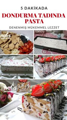 How to Make Ice Cream Taste Cake Recipe in 5 Minutes? cream to How to Make Ice Cream Taste Cake Recipe in 5 Minutes? Sweet Recipes, Cake Recipes, Dessert Recipes, Turkish Recipes, Italian Recipes, Turkish Sweets, Wie Macht Man, Perfect Food, Food Design