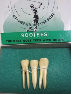 Rootees Golf Tees Teeth Tooth With Roots Great Gift For a Dentist ~ Gag Gift