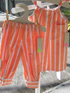 Orange and blue dress and pants - Daddy's Button Shirt - Pants sold Fiesta in the Park 4/15.  Dress sold New Smyrna Beach Art Fiesta 2/16