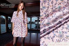 Purple Floral silk satin fabric,pure silk fabric,designer silk charmeuse fabric,Summer Fashion dress fabric,1m-SZD43574265271