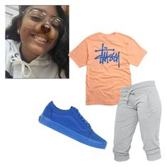 """""""~chill~"""" by qveenmm on Polyvore featuring Stussy and Vans"""