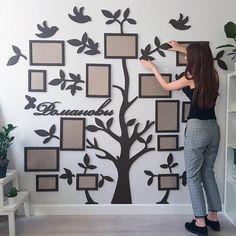 Wooden family tree, photo frame, wedding gift, bridal shower photo booth frame, personalised photo f Holz Stammbaum Fotorahmen Hochzeitsgeschenk Brautdusche