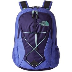 The North Face Women's Jester Backpack Bags ($56) ❤ liked on Polyvore featuring bags, backpacks, purple, handle bag, the north face daypacks, the north face backpack, shoulder strap bag and blue bag