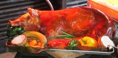 A pig roast or hog roast is an event or gathering which involves the barbecuing of whole hog (the castrated male pig or boar, bred for consumption at about 12 months old). Pig roasts in the mainlan...
