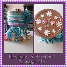 My completed headband and Hairband storage tin...