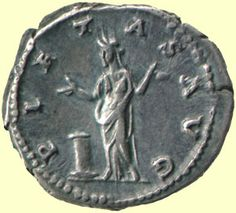 This coin has the word pietas written on it, showing the importance of this Roman value.