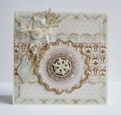 ✯Shabby Chic Christmas✯ handmade card #christmascards #shabbychic