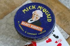 Vintage Mick McQuaid tobacco Tin by alltheseprettythings on Etsy, £4.50
