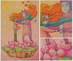 Primer dibujo a color de este año. Kawaii Art, Illustration Art, Painting, Charms, Colorful Drawings, Islands, Painting Art, Paintings, Paint