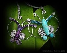 TUTORIAL Wire Wrapped Butterfly Pendant by WireBliss on Etsy