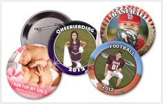 30 Second Mom - Marci Fair: Fun Way to Use Kids' Sports Photo Buttons for the Holidays