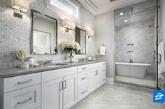 Shades of grey come together to create a truly relaxing effect in this bathroom.