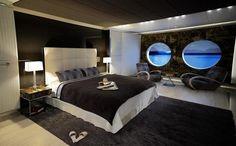 Luxury Yacht Interiors | Urban Contemporary Bedroom Rocks Yacht