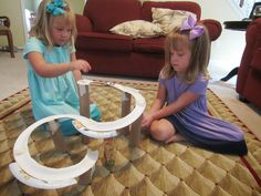 Ramps are now even more fun as a roller coaster!  Make a curvy, twisty marble run for even more fun! http://www.littleblastblog.com/2014/08/ramps-marble-roller-coaster.html