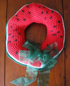Watermelon Wreath Home Decor Crochet Pattern von JoyPrescottCrochet