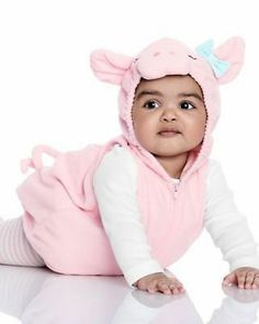 Pink Elephant Girls Fancy Dress Zoo Animal Kids Babies Infants Costume Outfit