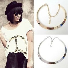 Collar Necklace Shape Metal Texture Necklace Pendants Jewelry Locket JW1N027 #Unbranded #Collar