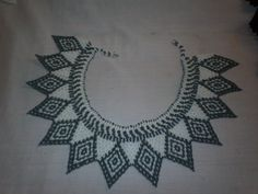 Chaquira Ngobe Indian Hand Beaded Collar Necklace by PanamaArt