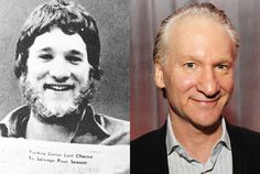 Bill Maher, Real Time with Bill Maher:   Voted Most Likely to Disappear Under His Own Hair, Bill Maher wasn't a slave to the razor back in 1974 at Pascack Hills High School in Montvale, New Jersey. He went on to host successful late-night shows Politically Incorrect with Bill Maher and Real Time with Bill Maher.