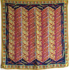 Wearing Scarves, How To Wear Scarves, Missoni, Leonard Paris, Scarf Design, Rugs, Vintage, Drawn Thread, Square Scarf