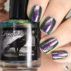 a purple jelly base with pink / purple microshimmer, multichrome flakes, and green/gold/purple shift Marble Nails, Gold Marble, Purple Gold, Green And Gold, Toe Polish, Nail Polish Collection, Nails Inspiration, Nail Care, My Nails