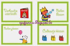Verjaardagskoffer voorbeeld van mijn opdrachtkaartjes Anna, Class Activities, 4 Kids, Gemini, Happy Birthday, Classroom, How To Plan, Comics, Carnival