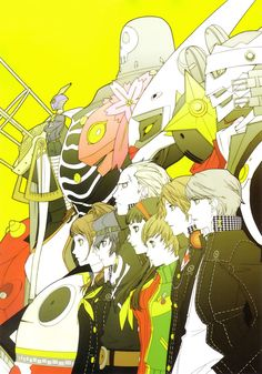 I really liked the funky colors that were used for Persona 4!
