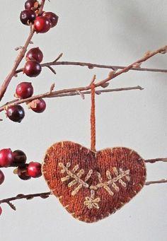Heart Christmas Tree decoration by Marie Wallin