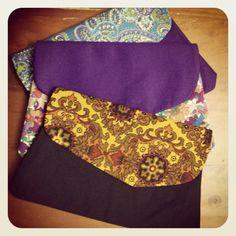 Handmade clutch purses, made from vintage fabrics, available @ lydiaandme.etsy.com