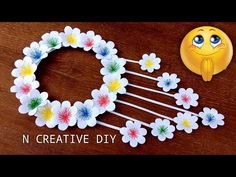 crafts with paper - YouTube Paper Flower Decor, Flower Wall Decor, Flower Crafts, Paper Flowers, Paper Wall Hanging, Wall Hanging Crafts, Wall Hangings, Art Wall Kids, Art For Kids