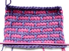 How-to: Bricks in Tunisian Simple Stitch