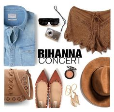 """Hot Ticket: Rihanna Concert"" by punnky ❤ liked on Polyvore featuring Valentino and MANGO"