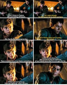 A deleted scene from The Scorch Trials. Like, why would you delete a Newtmas scene? You would've gotten so many more likes.
