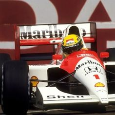 Ayrton Senna at the U. Grand Prix, I've always been a fan of Ayrton Senna, from the moment the young Brazilian upstart did the seemingly impossible by Mclaren Formula 1, San Marino Grand Prix, Mclaren Mp4, Car Memes, F1 Drivers, F1 Racing, Indy Cars, Car And Driver, Race Cars