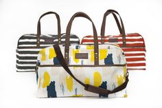 MAIKA duffel bags...  Tangerine Stripes. Charcoal Stripes. Rhythm.  Which is your favourite pick?